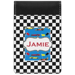 Checkers & Racecars Genuine Leather Small Memo Pad (Personalized)