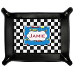Checkers & Racecars Genuine Leather Valet Tray (Personalized)
