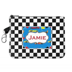 Checkers & Racecars Zip ID Case (Personalized)