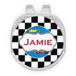 Checkers & Racecars Golf Ball Marker - Hat Clip