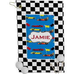 Checkers & Racecars Golf Towel - Full Print (Personalized)