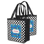 Checkers & Racecars Grocery Bag (Personalized)