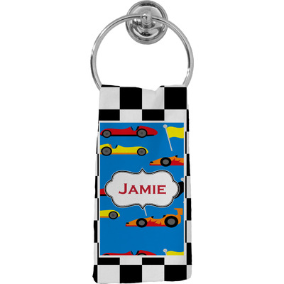 Checkers & Racecars Hand Towel - Full Print (Personalized)