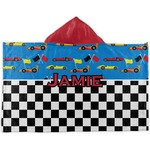 Checkers & Racecars Hooded Towel (Personalized)