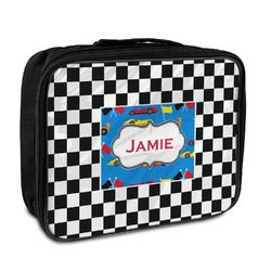 Checkers & Racecars Insulated Lunch Bag (Personalized)