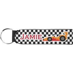 Checkers & Racecars Neoprene Keychain Fob (Personalized)