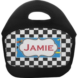 Checkers & Racecars Toddler Lunch Tote (Personalized)