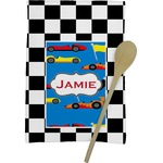 Checkers & Racecars Kitchen Towel - Full Print (Personalized)