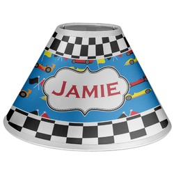 Checkers & Racecars Coolie Lamp Shade (Personalized)