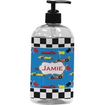 Checkers & Racecars Plastic Soap / Lotion Dispenser (Personalized)