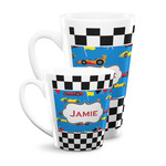 Checkers & Racecars Latte Mug (Personalized)