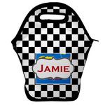 Checkers & Racecars Lunch Bag w/ Name or Text