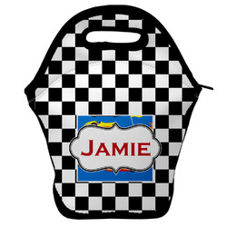 Checkers & Racecars Lunch Bag (Personalized)