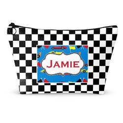Checkers & Racecars Makeup Bags (Personalized)
