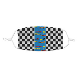 Checkers & Racecars Kid's Cloth Face Mask (Personalized)
