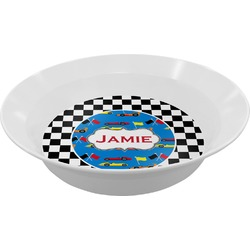 Checkers & Racecars Melamine Bowl (Personalized)