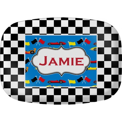 Checkers & Racecars Melamine Platter (Personalized)