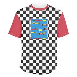 Checkers & Racecars Men's Crew T-Shirt (Personalized)