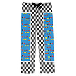 Checkers & Racecars Mens Pajama Pants (Personalized)