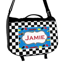 Checkers & Racecars Messenger Bag (Personalized)