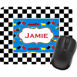 Checkers & Racecars Rectangular Mouse Pad (Personalized)