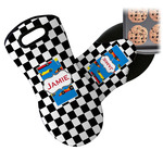 Checkers & Racecars Neoprene Oven Mitt (Personalized)