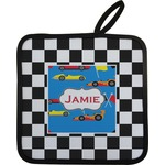 Checkers & Racecars Pot Holder (Personalized)