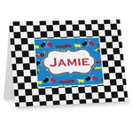 Checkers & Racecars Notecards (Personalized)