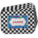Checkers & Racecars Dining Table Mat - Octagon w/ Name or Text