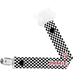 Checkers & Racecars Pacifier Clips (Personalized)