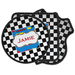Checkers & Racecars Iron on Patches (Personalized)
