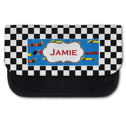 Checkers & Racecars Canvas Pencil Case w/ Name or Text