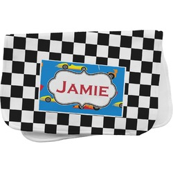 Checkers & Racecars Burp Cloth (Personalized)