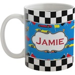Checkers & Racecars Coffee Mug (Personalized)