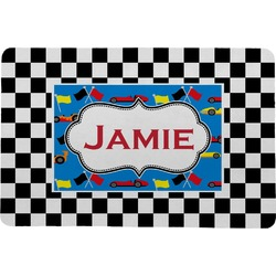 "Checkers & Racecars Comfort Mat - 24""x36"" (Personalized)"