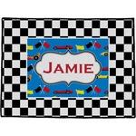 Checkers & Racecars Door Mat (Personalized)