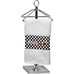Checkers & Racecars Cotton Finger Tip Towel (Personalized)