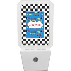 Checkers & Racecars Night Light (Personalized)