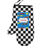 Checkers & Racecars Left Oven Mitt (Personalized)