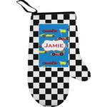 Checkers & Racecars Right Oven Mitt (Personalized)