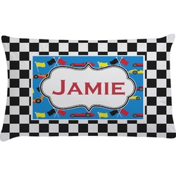 Checkers & Racecars Pillow Case (Personalized)