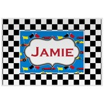Checkers & Racecars Placemat (Laminated) (Personalized)