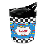 Checkers & Racecars Plastic Ice Bucket (Personalized)