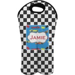 Checkers & Racecars Wine Tote Bag (2 Bottles) (Personalized)