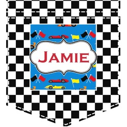 Checkers & Racecars Iron On Faux Pocket (Personalized)