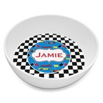 Checkers & Racecars Melamine Bowl 8oz (Personalized)