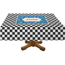 Checkers & Racecars Rectangle Tablecloth (Personalized)