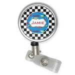 Checkers & Racecars Retractable Badge Reel (Personalized)
