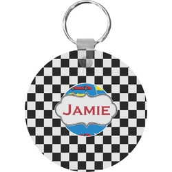 Checkers & Racecars Keychains - FRP (Personalized)