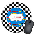 Checkers & Racecars Round Mouse Pad (Personalized)